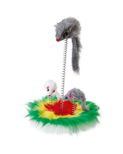 Igračka za mačku miš na žici