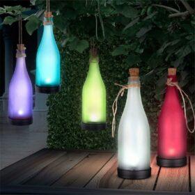 Led lampa solarna flaša