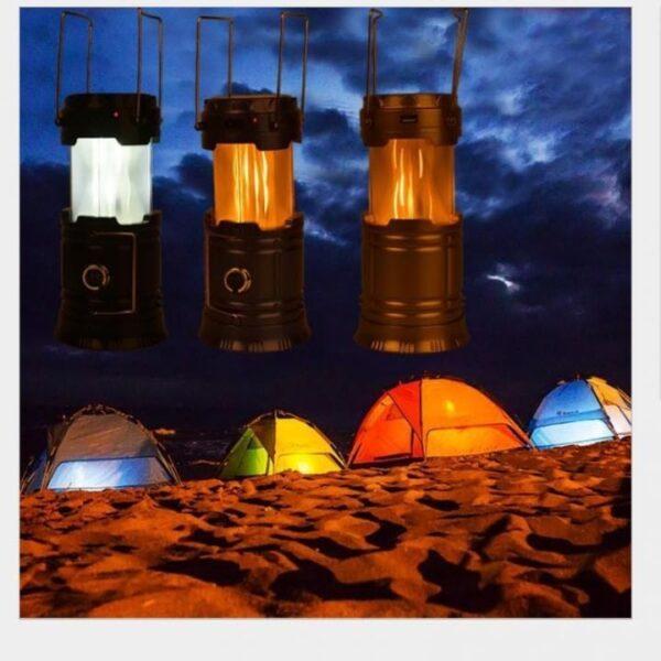 Led lampa solarna kamp