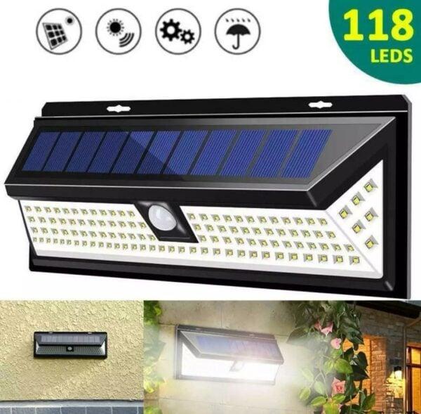 Solarni LED reflektor 118 LED dioda