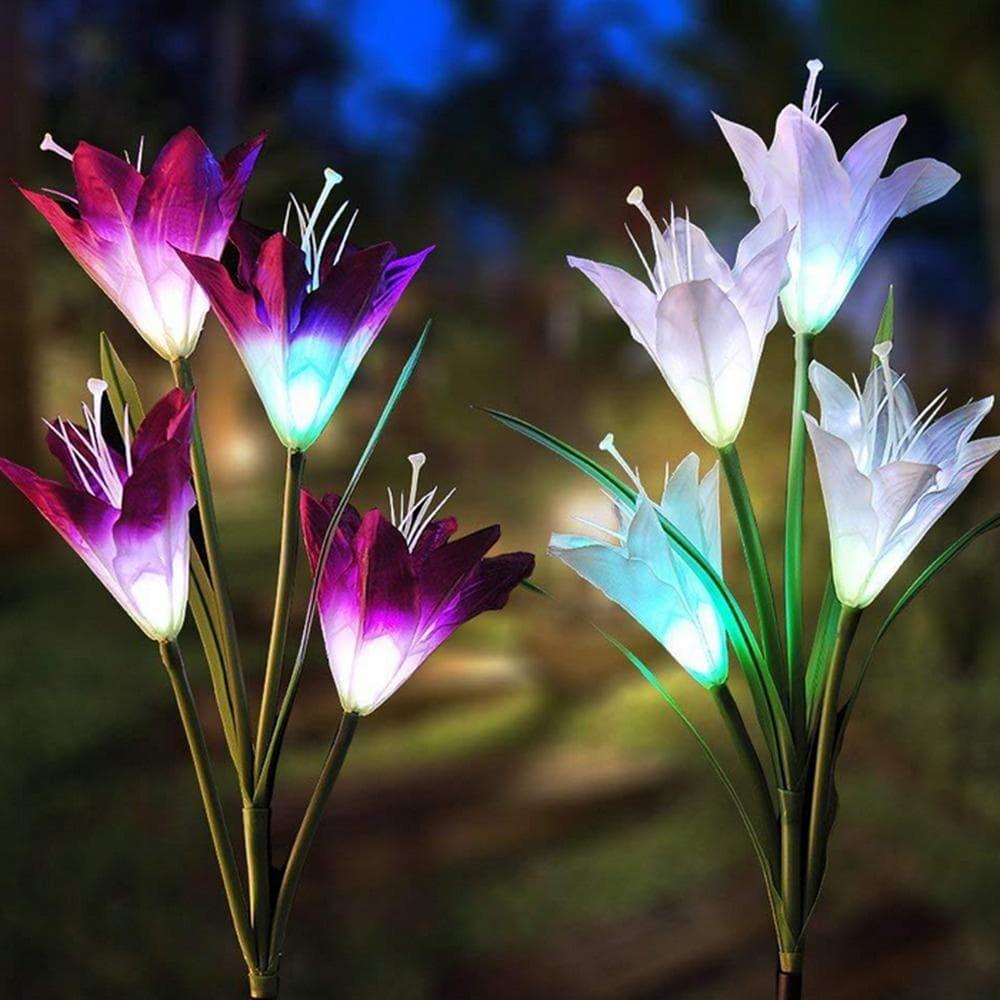 Vrtna solarna lampa lily1