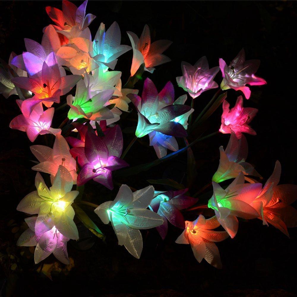 Vrtna solarna lampa lily2
